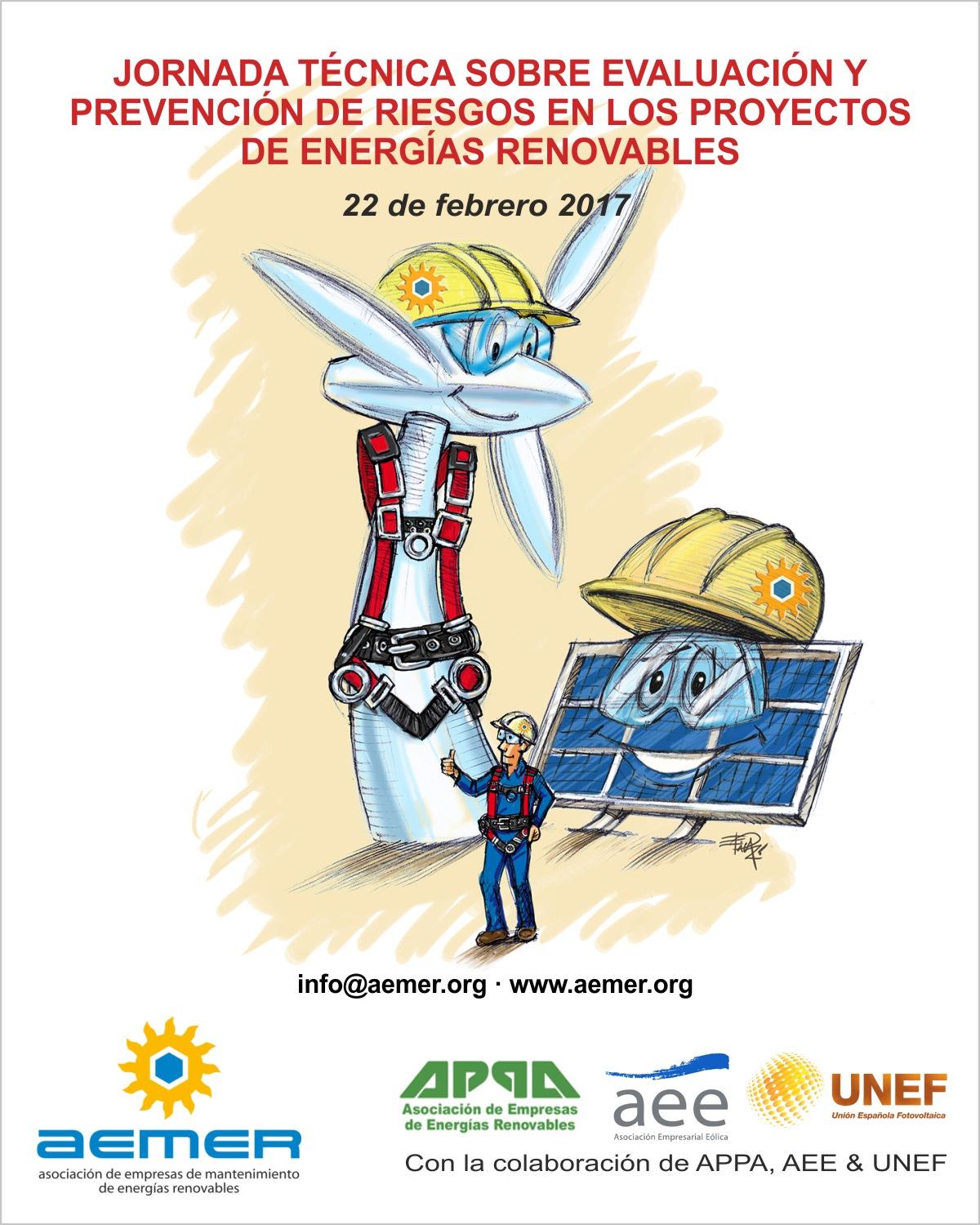 JORNADA TÉCNICA SOBRE EVALUACIÓN Y PREVENCIÓN DE RIESGOS EN LOS PROYECTOS DE ENERGÍAS