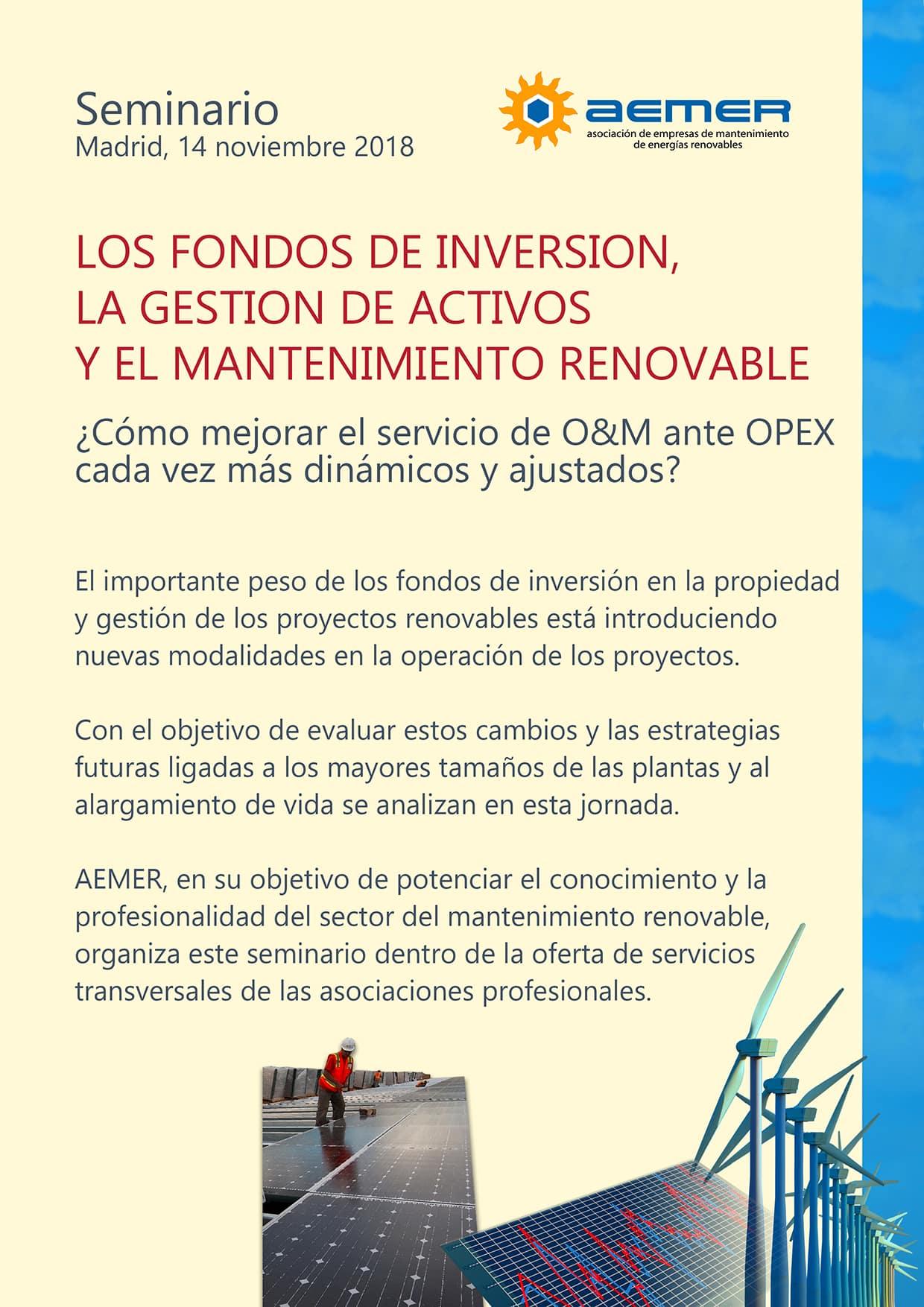 Seminario SOBRE LOS FONDOS DE INVERSIÓN